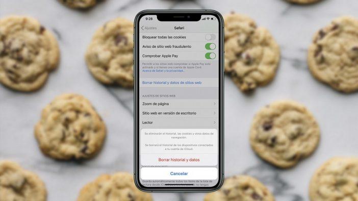 Borrar cookies en iPhone
