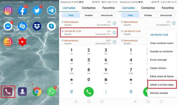 Bloqueo nativo en Android