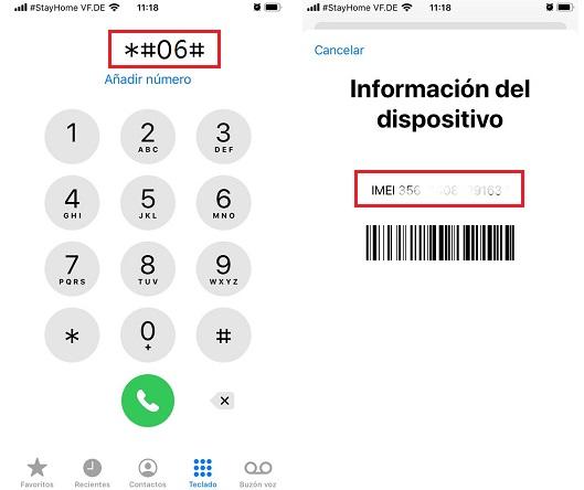 Descubre cual es tu numero de IMEI con iphone