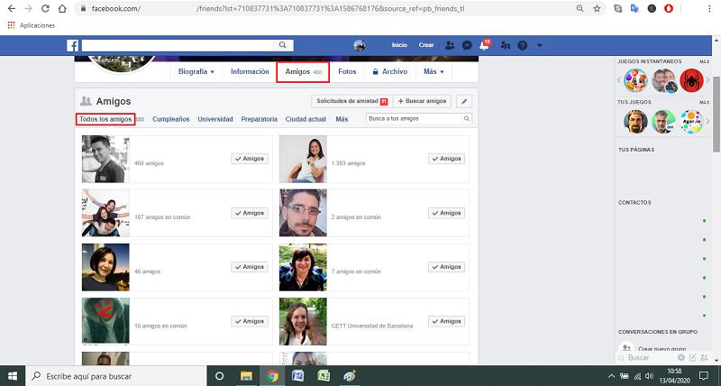 Información bloqueada por seguridad en facebook
