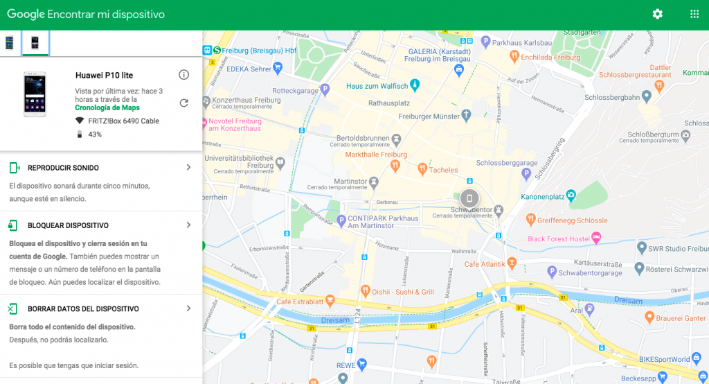 Localizar numero de celular por satelite con Android