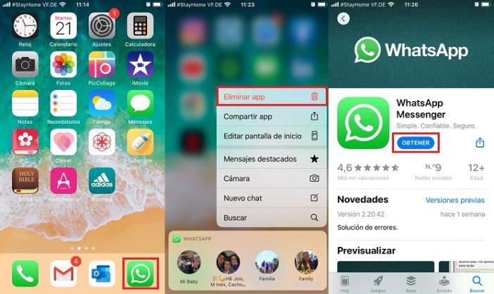 Recuperar mensajes con reinstalación whatsapp