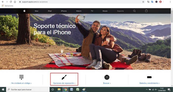 Verificar desde la web de Apple 1