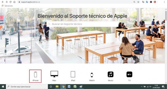 Verificar desde la web de Apple