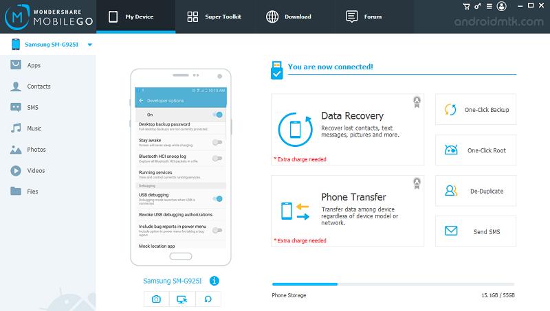 aplicacion WonderShare MobileGo