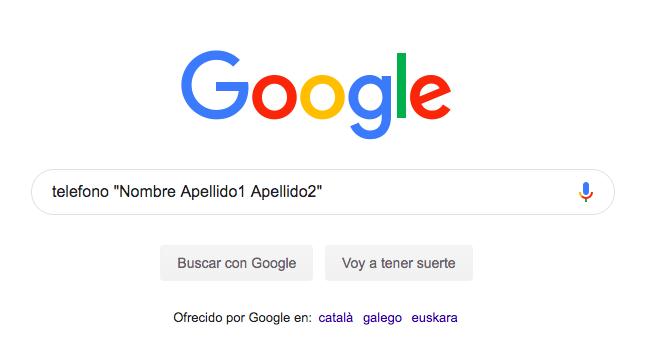 buscar telefono en google