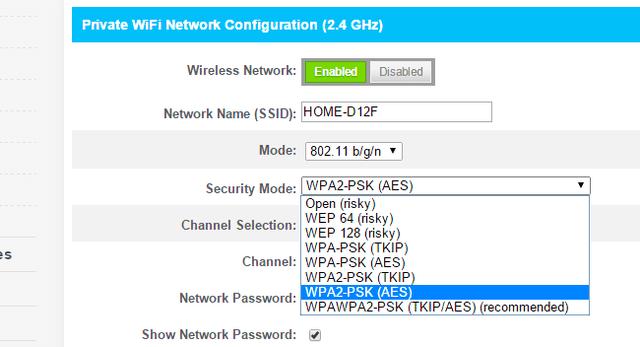 cifrado WPA2