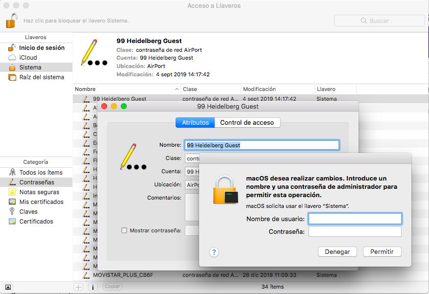 ver contraseña wifi mac