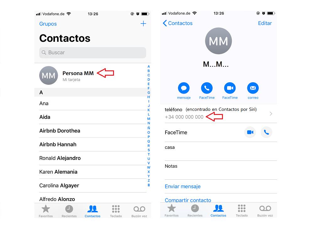 saber tu numero con iPhone